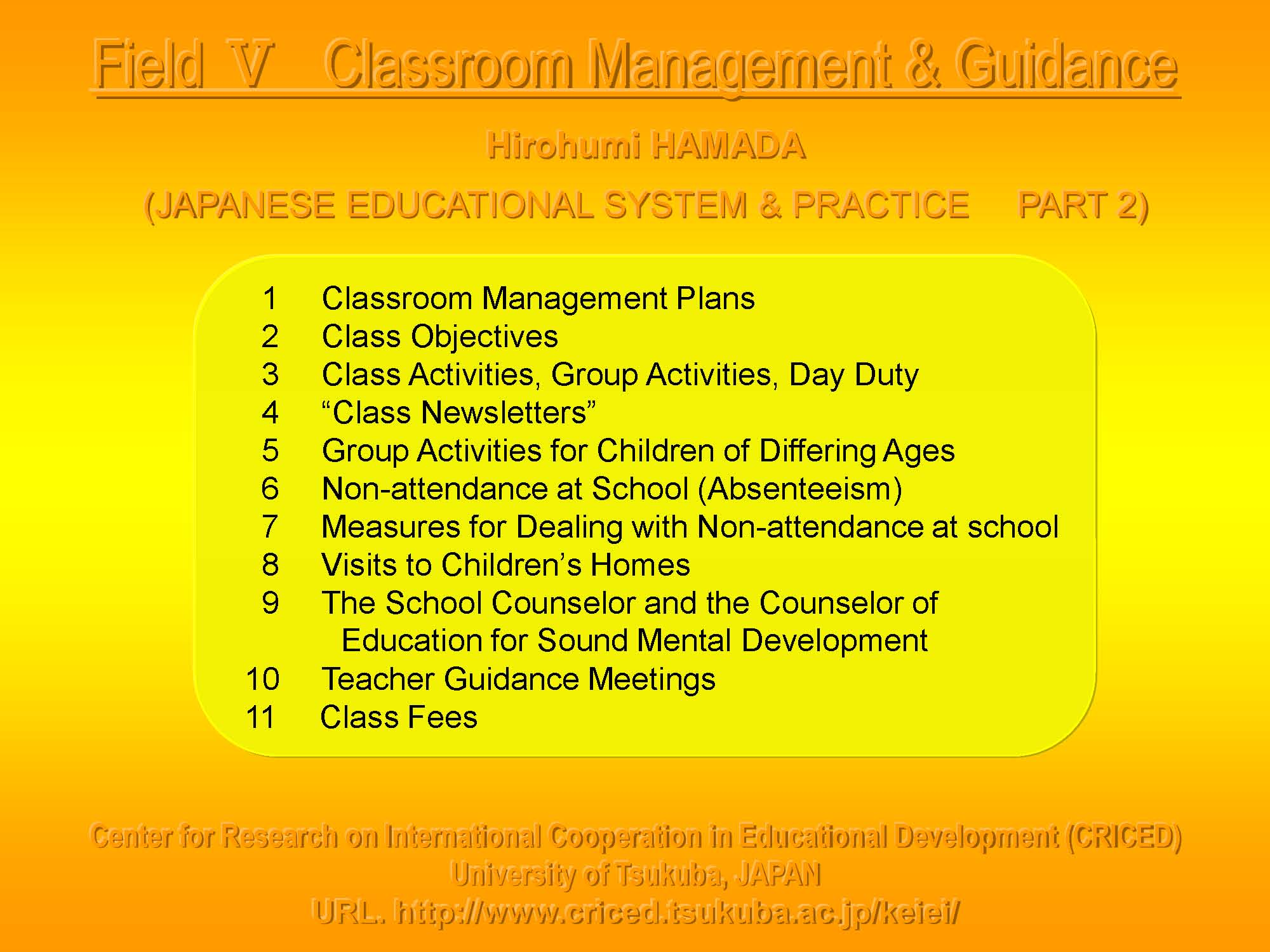 educational system & practice in japan