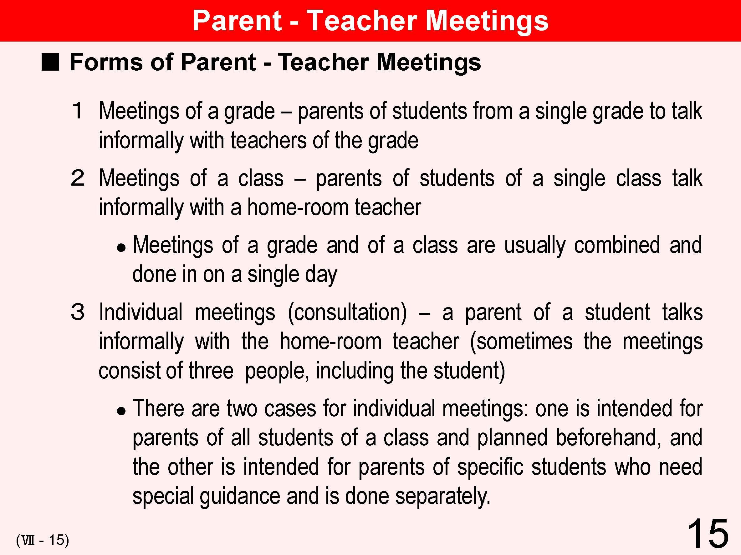 Parent Teacher Conference Schedule Template Parent-teacher meetings