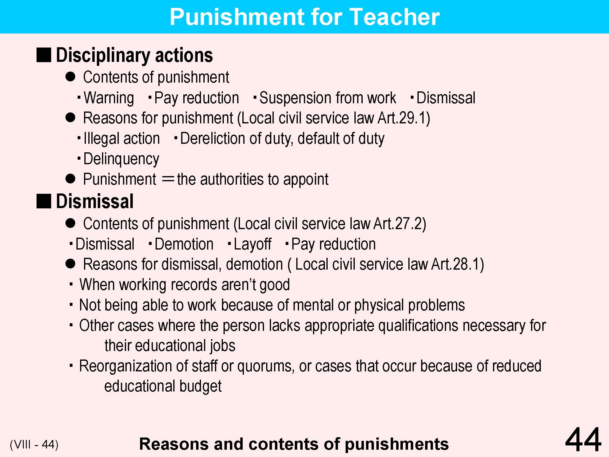Appointment of punishment